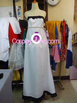 Miku Hatsune (Dress version) from Vocaloid Cosplay Costume front prg
