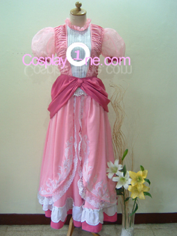Princess Peach from Super Mario Bros Cosplay Costume front1
