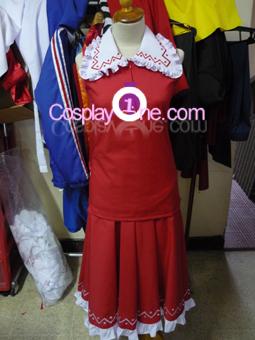Reimu Hakurei from Touhou Cosplay Costume front prog3