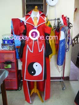 Reimu Hakurei from Touhou Cosplay Costume front prog