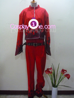 Ash Crimson from Anime Cosplay Costume front