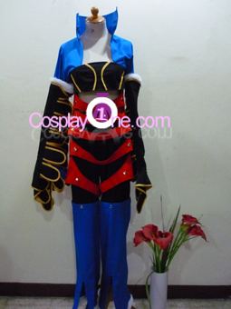 Paine Black Mage from Final Fantasy X Cosplay Costume front