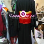 Red Miketsukami Cosplay Costume back prog