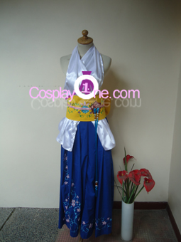 Summoner Yuna from Final Fantasy X Cosplay Costume front