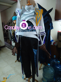 Lucian The Purifier from (League of Legends) Cosplay Costume front prog