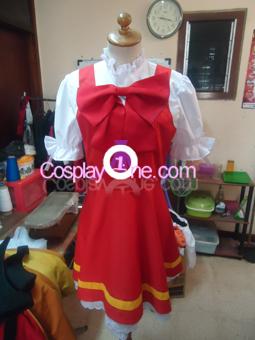 Sakura from Card Captor Sakura Cosplay Costume front prog