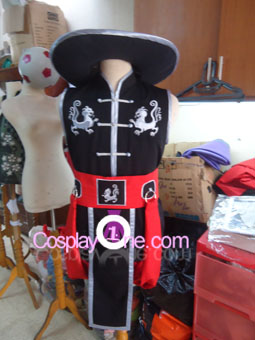 Kung Lao from Mortal Kombat Cosplay Costume front prog